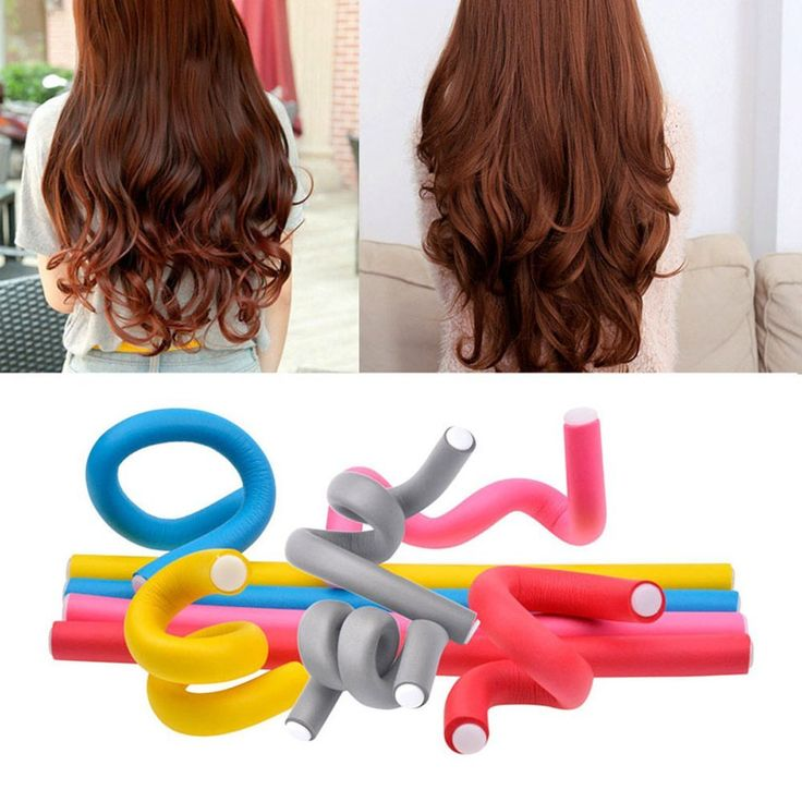 20 Pcs Flexible Hair Curler Rollers Curling Rods,9.4 '' Twist Hair Curlers Set No Heat Hair Curling, Flex Spiral Perm Curls Magic Styler Overnight Curly Styling Tool for Long Short Hair(Random Color) ** Want additional info? Click on the image. #hairupdos