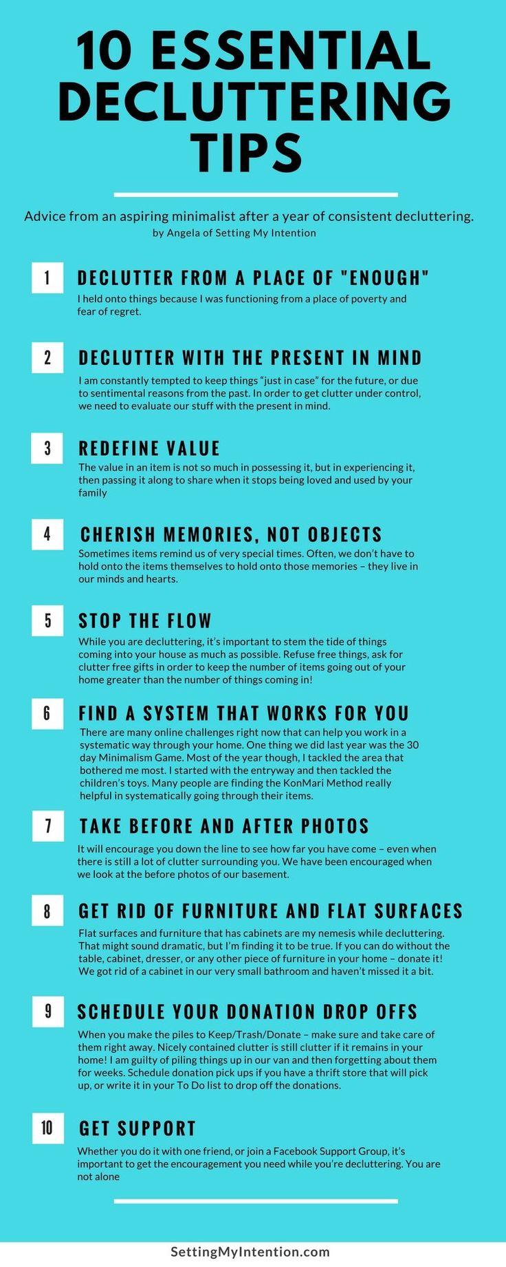10 essential decluttering tips