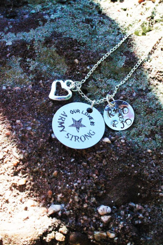 Personalized Army Wife or Girlfriend - Personalized Army Necklace - Personalized Military Jewelry