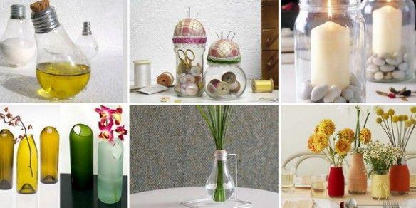 Ideas para reutilizar vidrios en casa...
