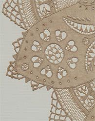 Hedebo lace tablecloth made by Roma Field in Australia, about 1925.