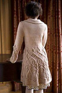 Winter Wonderland Coat by Michele Rose Orne - cardigan coat in bulky weight alpaca/merino yarn