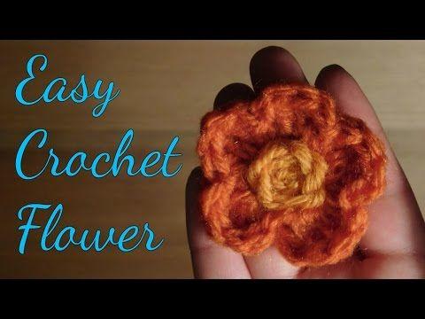 Learn to make an easy crochet flower!! 🌸 Subscribe! #paulavenvera