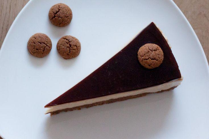 Speculaas koffie cheesecake, deze taart is weer eens wat anders voor Sinterklaasavond, maar eigenlijk het hele jaar door erg lekker.