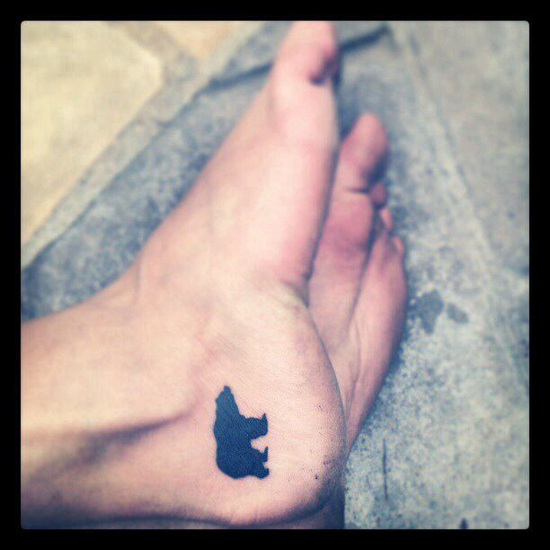 Again as a dog, but I think that might be what would make me get an ankle tattoo