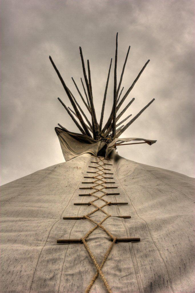 Native American teepee, Grand Tetons, Wyoming by David K. Edwards