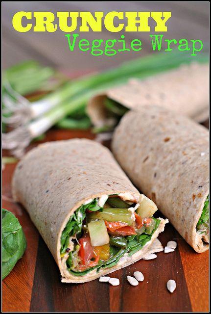 Crunchy Veggie Wraps   Recipe   Veggie Wraps, Veggies and Wraps