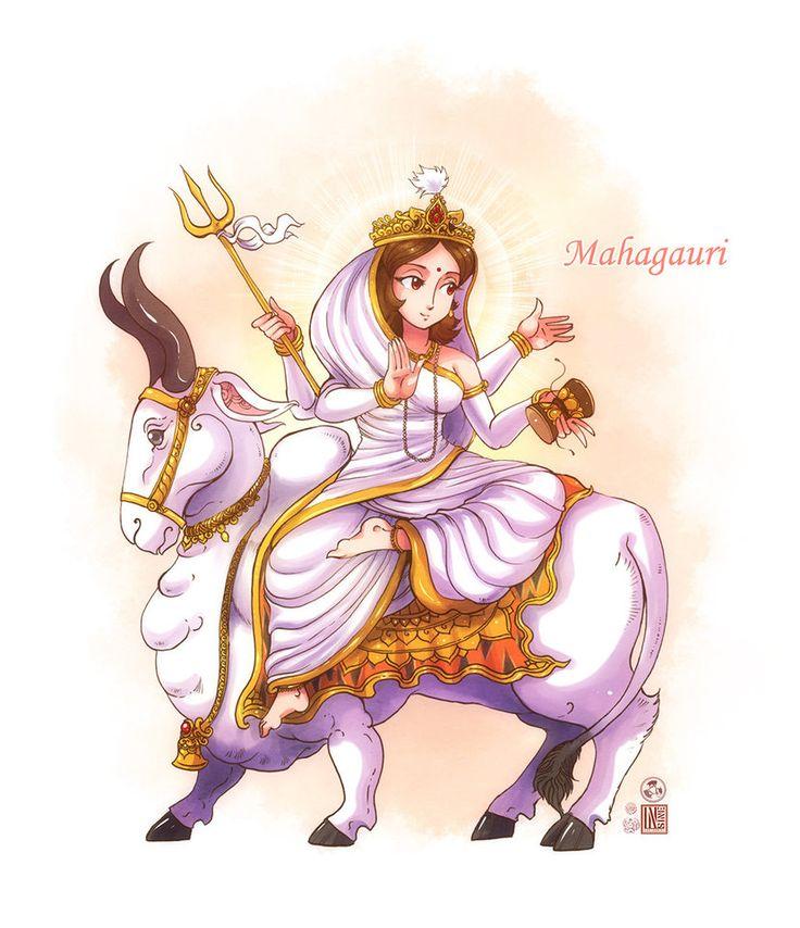 Maha Gauri mata by In-Sine on DeviantArt