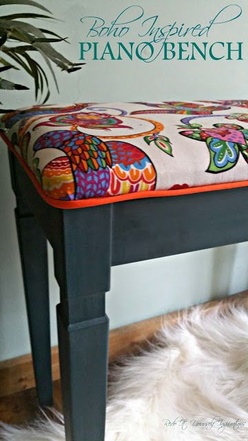 Make over Piano Bench http://pinterest.com/cameronpiano