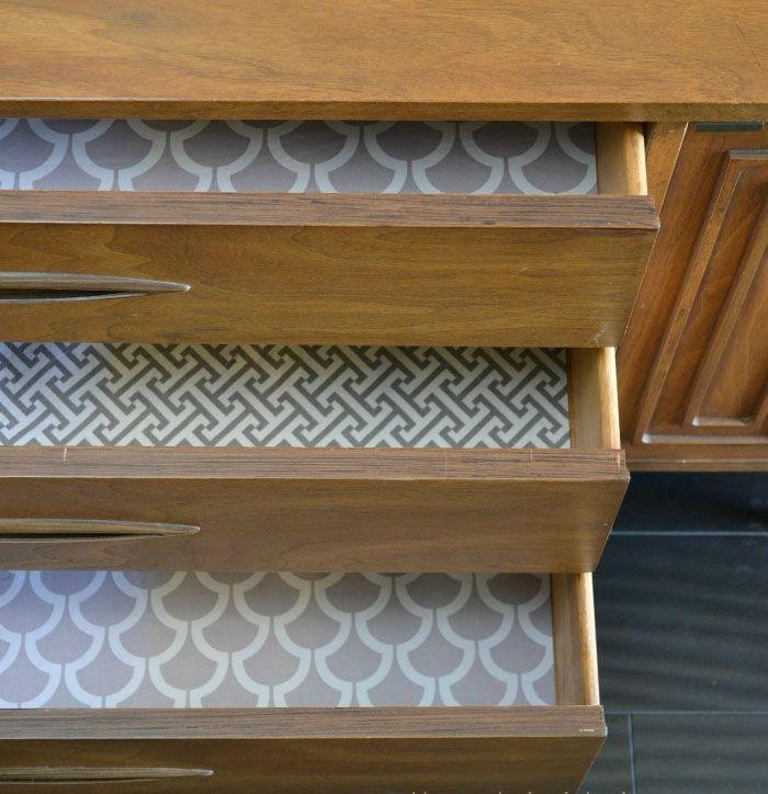 Papel adhesivo para forrar armarios interesting decorar - Forrar armarios por dentro ...