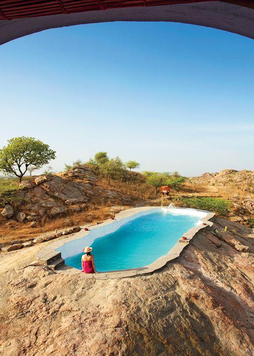 Rock Pool in Lakshman Sagar, India