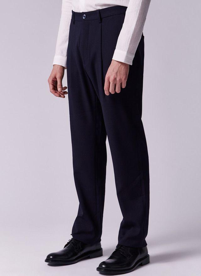 Pantalón acrepado de pliegues | Ropa, Hombres, Pantalones