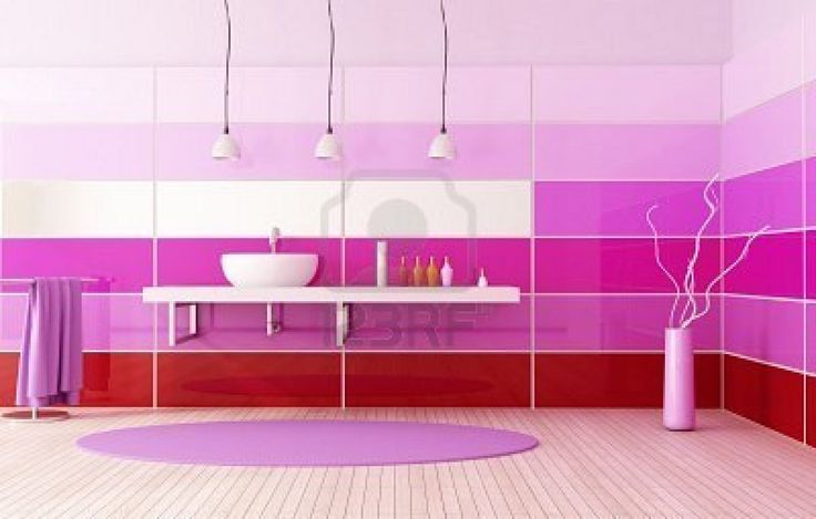 Awesome Peaceful Pink Ultramodern Bathroom