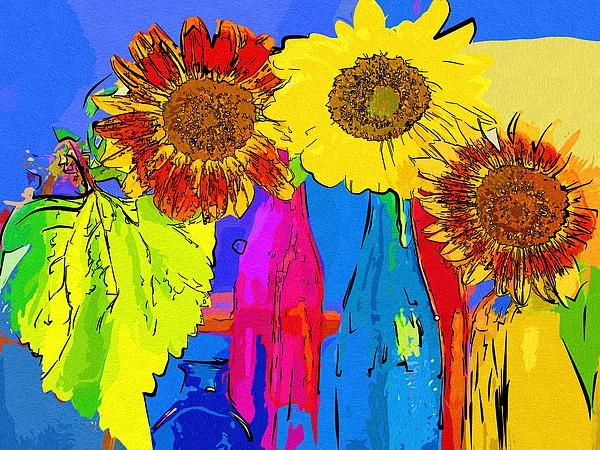 Art Painting Flowers by Michael Vicin #art #flowers