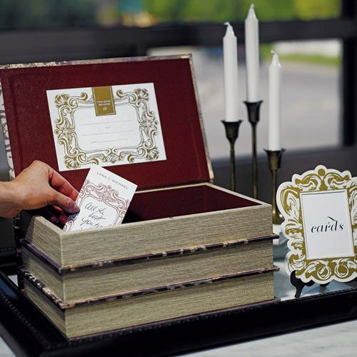 This novel box will look impressive at any wedding, including Bohemian, Rustic, Barn, Hipster, and other wedding themes. Keep it as a lovely keepsake in years that follow.  Use it as a special decorative box to hold notes from guests, take donations for the events or to send words of hope and inspiration to the bride and groom.