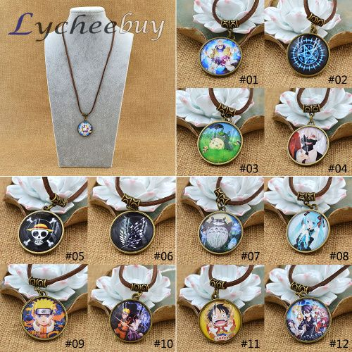 Hot Anime Cartoon One Piece Black Butler Tokyo ghouls Style Collection Cosplay Necklace