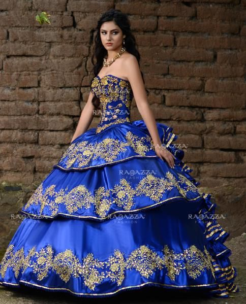 9ad367fc4be A-line Charro Quinceanera Dress by Ragazza Fashion M06-106 in 2019 ...