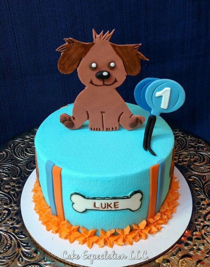 Puppy Cake for 1st Birthday