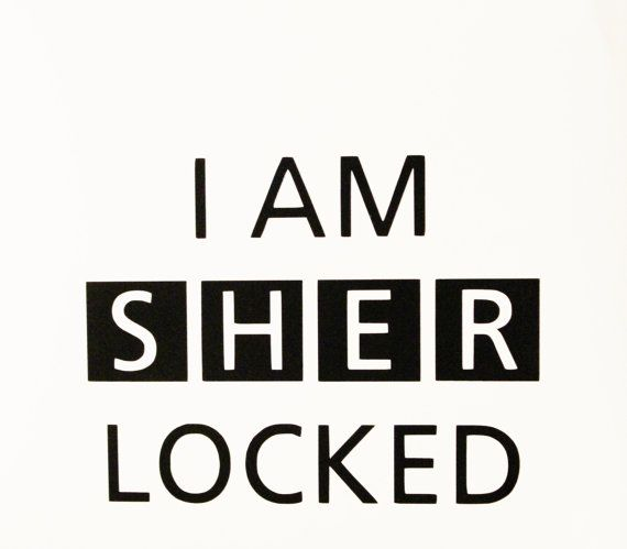 I Am Sherlocked Vinyl Decal by AllonsyCreations on Etsy, $5.00 ...