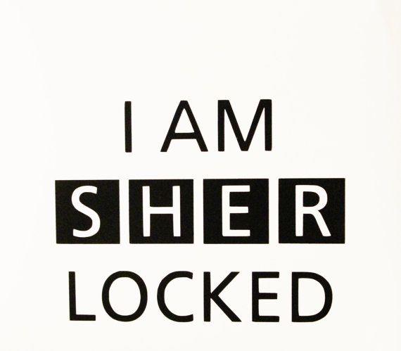 I Am Sherlocked Vinyl Decal by AllonsyCreations on Etsy, $5.00 ...