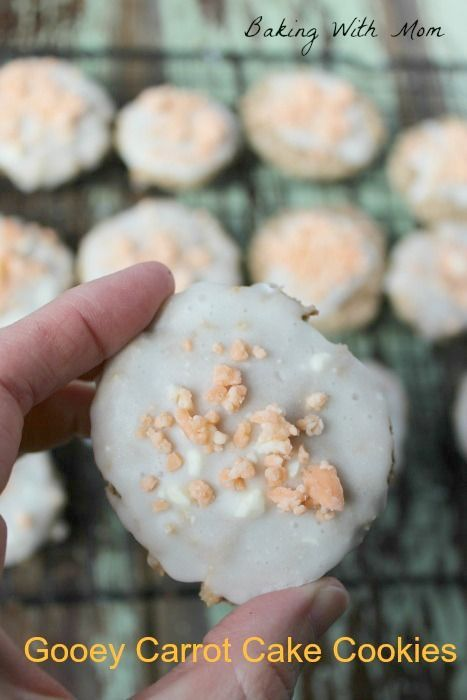 Gooey Carrot Cake Cookies are made with a box cake mix and only has a few ingredients. Easy and perfect for spring.