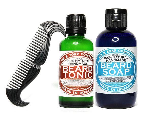 All Natural Deluxe Beard Care Gift Set For Men For Him Beard Wash Beard Oil FREE SHIP on Etsy, $37.23