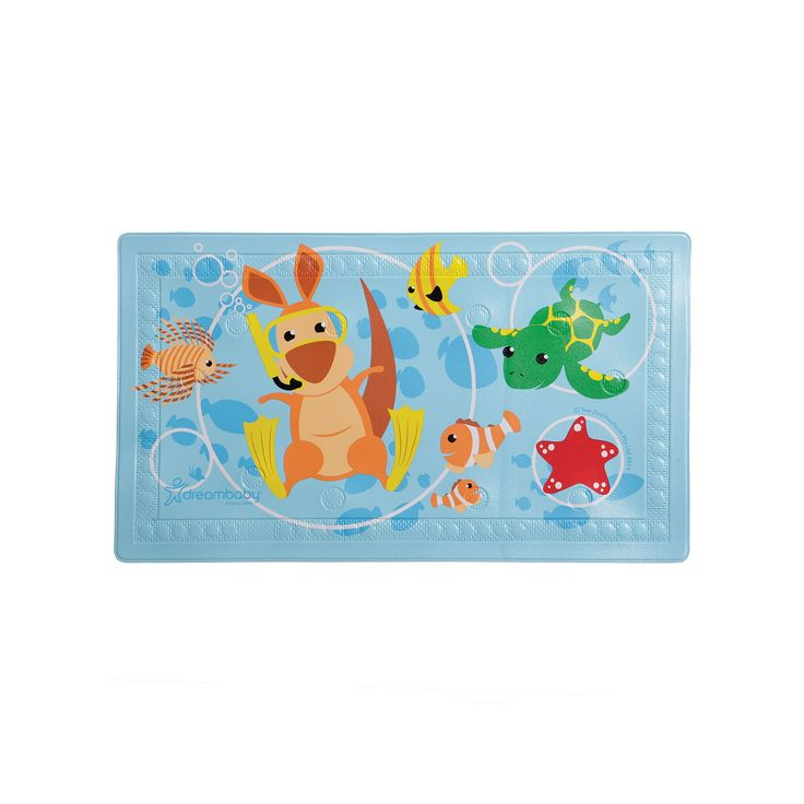 Dreambaby Underwater Anti-Slip Bath Mat, Blue