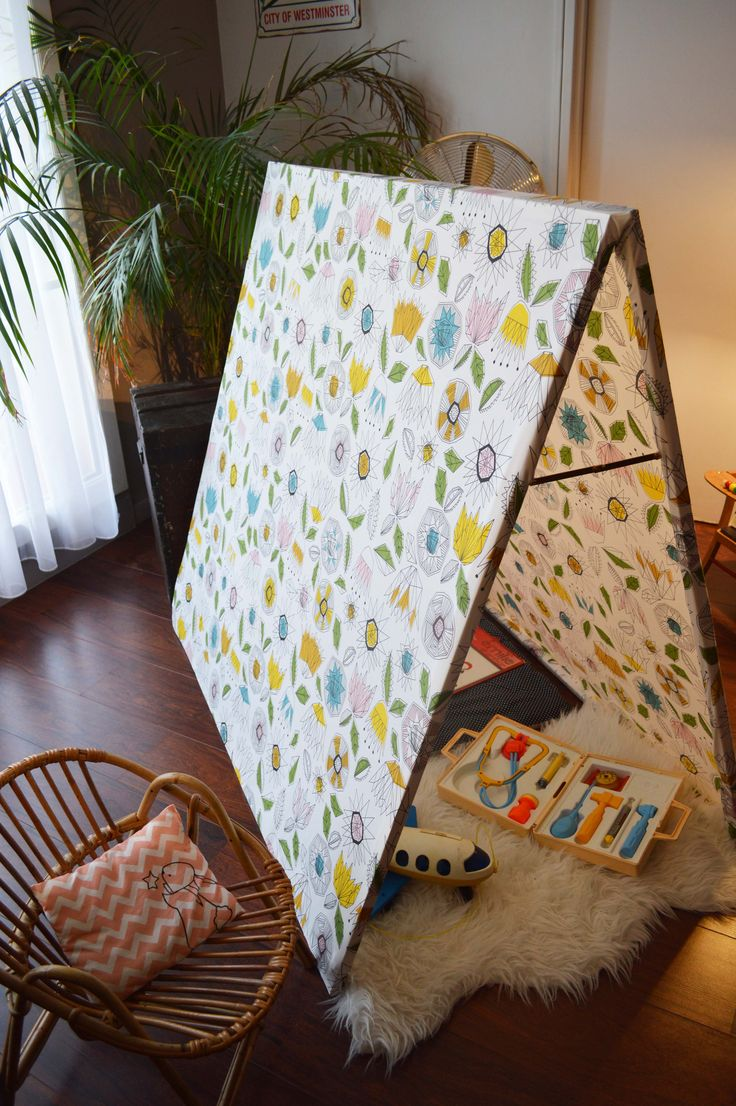 diy cabane en tissu diy tipi pinterest kid. Black Bedroom Furniture Sets. Home Design Ideas