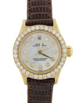 Ladies Vintage Rolex Oyster 18k Gold Diamond MOP 26mm Watch 6615 Leather. Get the lowest price on Ladies Vintage Rolex Oyster 18k Gold Diamond MOP 26mm Watch 6615 Leather and other fabulous designer clothing and accessories! Shop Tradesy now