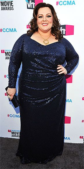 Melissa mccarthy is all about the sparkle in david meister celebrity