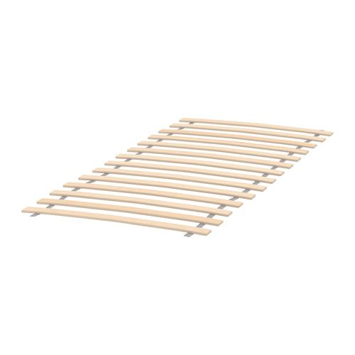 LURÖY Slatted bed base IKEA 14 slats of layer-glued birch adjust to your body weight and increase the suppleness of the mattress.