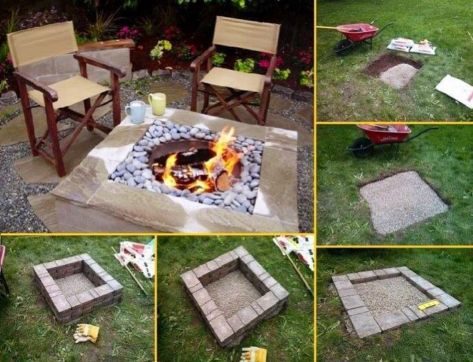Easy back yard fire pit... Away from the house!