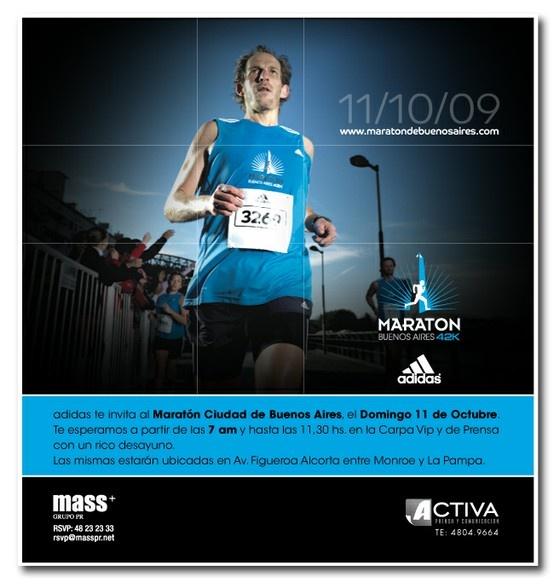 Publicidad Maratón Buenos Aires, Adidas. Para 5 Yardas