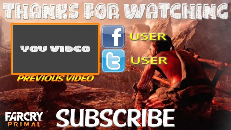 Far Cry Primal Outro Template FREE SONY VEGAS PRO 11, 12, 13