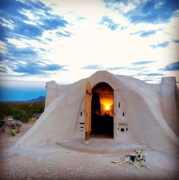 Located near Big Bend National Park, this adobe dome is powered by the hot desert Sun. Although there is no running water at this off-grid location, it is equipped with wireless internet to stay connected. Rent it on Airbnb »   - HouseBeautiful.com