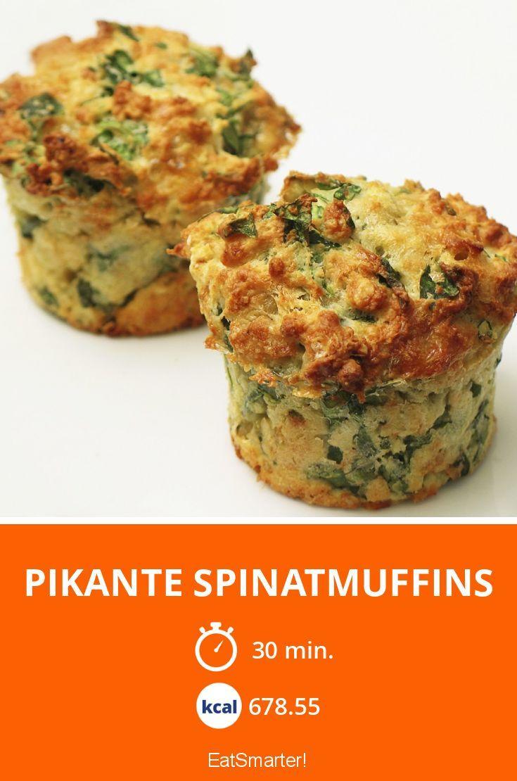 Pikante Spinatmuffins - smarter - Kalorien: 678.55 kcal - Zeit: 30 Min. | eatsmarter.de