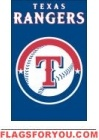 "Rangers Applique Banner Flag 44"" x 28"""