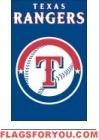 "Rangers Applique Banner Flag 44"" x 28"""