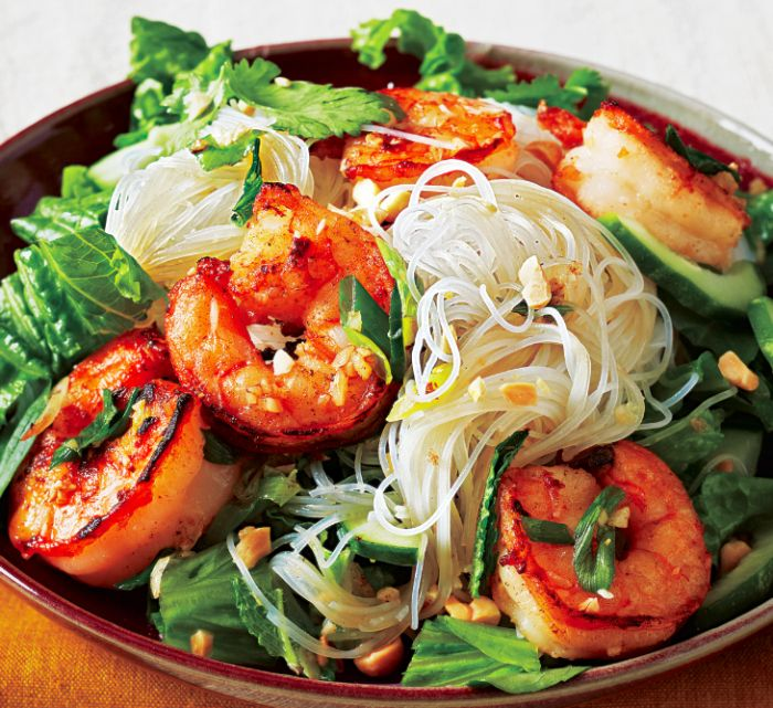 Vietnamese Grilled Shrimp Noodle Bowl...looks kinda complicated but probably will be worth it.