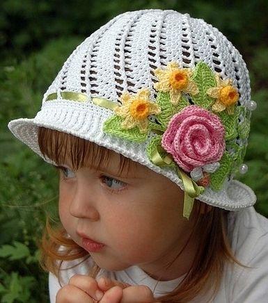 Ekadınca Kadın ve Moda Sitesi | Yazlık Örgü Kız Çocuk Şapka Modelleri | http://www.ekadinca.com