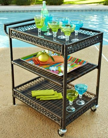 outdoor serving Cart. Pier one