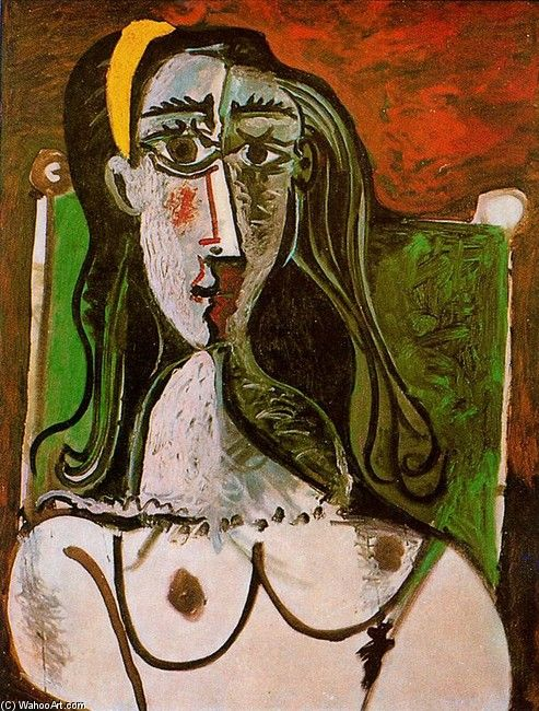 'Seated woman 6', Oil by Pablo Picasso (1881-1973, Spain)