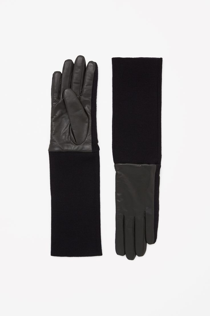 Leather work gloves with wool lining - Cos Minimal Chic Co De F_orm Wool Gloveswinter