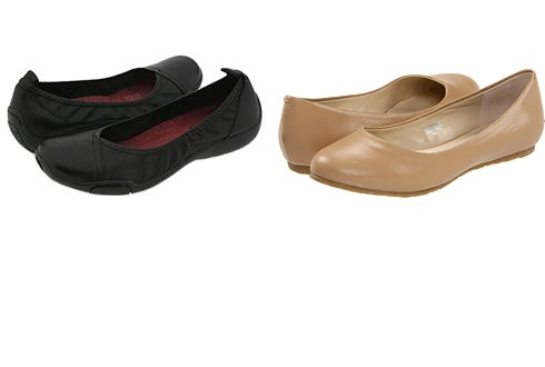 Creston by Naturalizer, Kylie Slip-On Flat by Fitzwell.  I found these on Zappos.  I really was having a hard time finding shoes for work.  Does everybody walk around in 6 inch heels these days, or flip-flops.