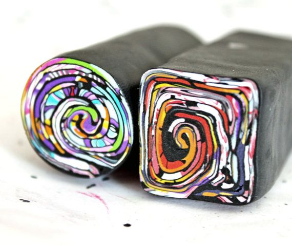 REMINDER: ROLL UP STROPPEL CANES!!!!! Polymer Clay stroppel canes 2ps by LyamayevaClay on Etsy, €10.00