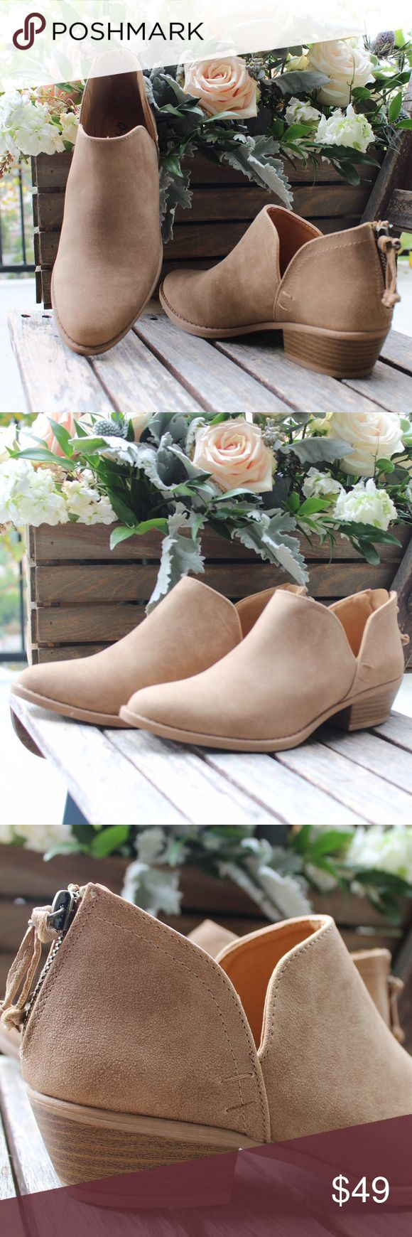 Tassel Low Stack Heel Distressed Ankle Boot 💛 Absolutely perfect for any occasion.💛Brand New In Box 💛Heel Height 1.25 Inches💛 Rear Zip💛 True to Size💛 Vegan Materials 💛 Feel free to ask questions! 🌸www.thefairyden.com🌸 The Fairy Den Shoes Ankle Boots & Booties