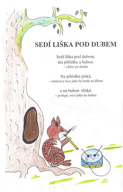 Sedí liška pod dubem :: Školička Bublinka