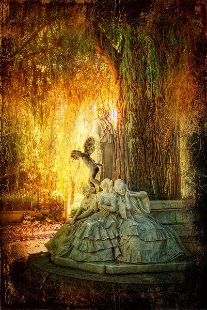 Monumento a Bécquer en el Parque de María Luisa, Sevilla, Spain (Photo manipulation)