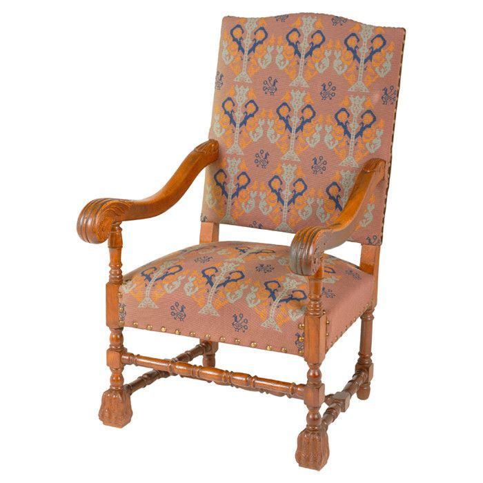 Vintage Baroque Needlepoint Chair