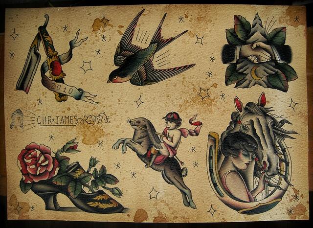 Vintage Tattoo Flash Old School